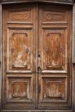 Fondo de madera de la puerta Fotografía de archivo