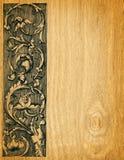 Fondo de madera de la tarjeta Fotografía de archivo libre de regalías