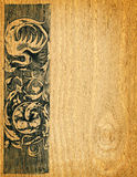 Fondo de madera de la tarjeta Imagen de archivo