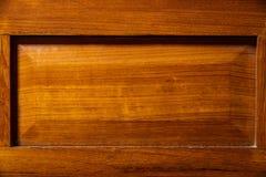 Fondo de madera de la textura con el marco rectangular Foto de archivo