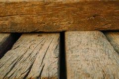Fondo de madera de la textura de la obstrucción del viejo vintage Imágenes de archivo libres de regalías