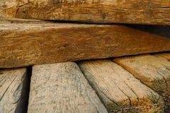 Fondo de madera de la textura de la obstrucción del viejo vintage Foto de archivo libre de regalías