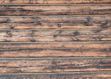 Fondo de madera de la textura de la pared de la cuerda de los registros Fotos de archivo