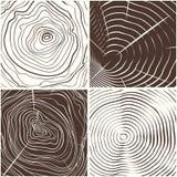 Fondo de madera de la textura de los anillos ilustración del vector