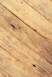 Fondo de madera de la textura del marrón amarillo Imagen de archivo