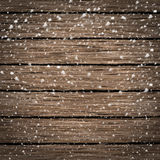 Fondo de madera de la textura en nieve Imágenes de archivo libres de regalías