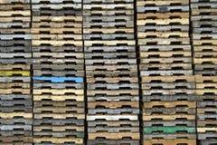 Fondo de madera de las paletas fotografía de archivo