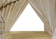 Fondo de madera de las torsiones de los tablones de la textura Foto de archivo