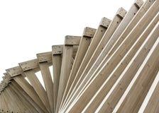 Fondo de madera de las torsiones de los tablones de la textura Fotografía de archivo