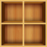 Fondo de madera de los estantes del vector Foto de archivo