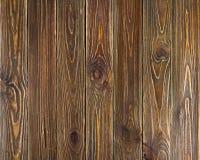 Fondo de madera de los tablones del viejo grunge marrón Imagen de archivo