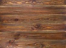 Fondo de madera de los tablones del viejo grunge marrón Fotos de archivo