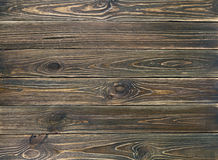 Fondo de madera de los tablones del viejo grunge marrón Foto de archivo libre de regalías