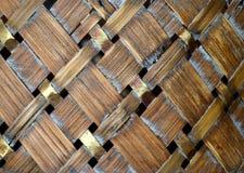 Fondo de madera de mimbre Foto de archivo