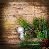 Fondo de madera de Navidad fotografía de archivo