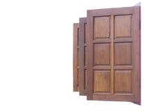 Fondo de madera del blanco del aislante de la ventana foto de archivo