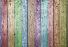 Fondo de madera del color Imagen de archivo