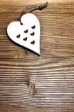 Fondo de madera del corazón Fotos de archivo libres de regalías