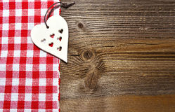 Fondo de madera del corazón Imágenes de archivo libres de regalías
