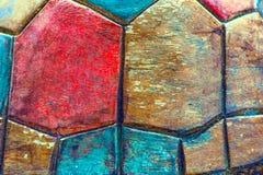 Fondo de madera del estilo de la forma del hexágono de la textura imágenes de archivo libres de regalías