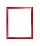 Fondo de madera del marco de la foto del color rojo Foto de archivo