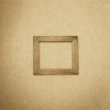 Fondo de madera del marco del Grunge, textura del papel del vintage Foto de archivo libre de regalías