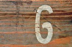 Fondo de madera del número seises foto de archivo libre de regalías