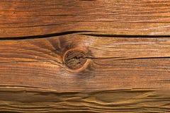 Fondo de madera del nudo en la madera del tablón Foto de archivo