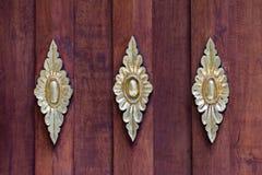 Fondo de madera del piso en Wat Ram Poeng Tapotaram, Chiang Mai Fotografía de archivo libre de regalías