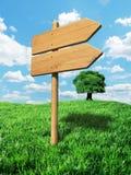 Fondo de madera del poste indicador Fotografía de archivo libre de regalías