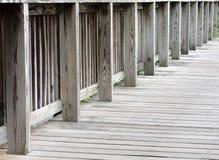 Fondo de madera del puente Fotografía de archivo libre de regalías