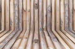 Fondo de madera del registro texturizado Fotografía de archivo