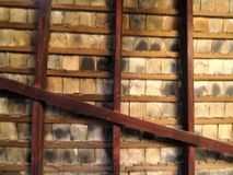 Fondo de madera del tejado Imagen de archivo