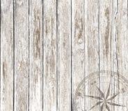 Fondo de madera del vintage con el compás Imagenes de archivo