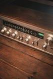 Fondo de madera del vintage del receptor Fotografía de archivo