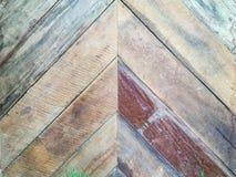 Fondo de madera del zigzag Fotografía de archivo