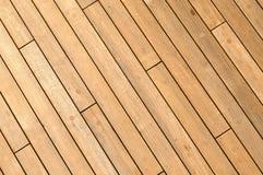 Fondo de madera diagonal de la cubierta de la nave foto de archivo libre de regalías
