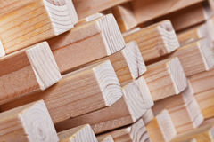 Fondo de madera geométrico Foto de archivo libre de regalías