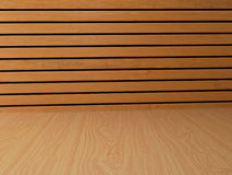 Fondo de madera interior en el ejemplo 3D Fotos de archivo libres de regalías