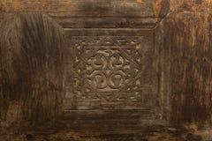 Fondo de madera islámico del diseño para la puerta en mezquita egyptuan Imagen de archivo libre de regalías