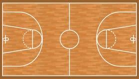 Fondo de madera de la corte del baloncesto, campo del entarimado ilustración del vector