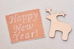 Fondo de madera de la Feliz Año Nuevo Fotografía de archivo