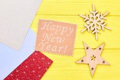 Fondo de madera de la Feliz Año Nuevo Imagenes de archivo