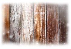 Fondo de madera de la Navidad con el copo de nieve Imágenes de archivo libres de regalías