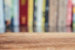 Fondo de madera de la tabla y del estante de la falta de definición Fotografía de archivo libre de regalías