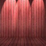 Fondo de madera de la textura pared y piso de madera rojos Fotografía de archivo libre de regalías