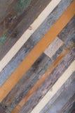 Fondo de madera de los extremos de viejos tableros Foto de archivo