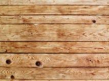 Fondo de madera marrón claro de la pared de la textura del tablón Foto de archivo libre de regalías