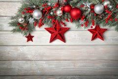 Fondo de madera moderno para la Navidad Imagen de archivo libre de regalías