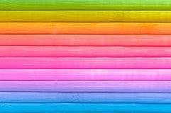 Fondo de madera multicolor. Fotografía de archivo